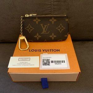 BNIB Louis Vuitton Monogram Canvas Key Pouch